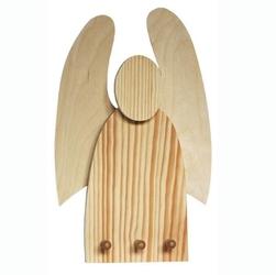 Drewniany wieszak - anioł
