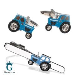 Komplet biżuterii niebieski traktor sdk-1296