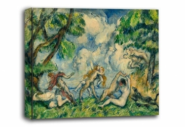 The battle of love, paul cézanne - obraz na płótnie