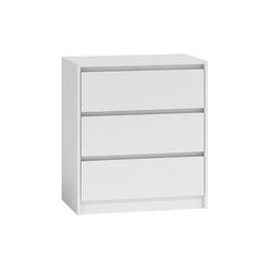 Komoda nova trzy szuflady 70 cm biała