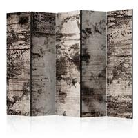 Parawan 5-częściowy - przypalane drewno room dividers