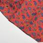 Elegancki czerwony fular jedwabny hemley w niebieski i żółty wzór paisley
