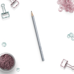 Ołówek sparkle pearly szary faber-castell - pastelove