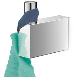 Mały, stalowy wieszak łazienkowy linea zack polerowany 40036