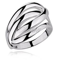 Srebrny, duży pierścionek pr.925 wysoki połysk