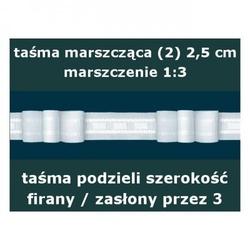 Taśma marszcząca 2 wysokość 2,5 cm