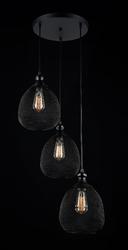 Potrójna lampa industrialna - klosze z metalowej siateczki grille maytoni loft t018-03-b