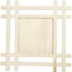 Drewniana ramka ozdobna 17x17 cm