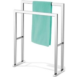 Podwójny stojak łazienkowy na ręczniki linea zack stal polerowana 40040