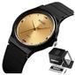 Zegarek damski skmei 1421 czarny klasyczny gold