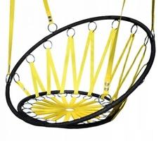 Huśtawka krzesło bujak wiszący - bocianie gniazdo żółte