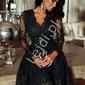 Czarna sukienka z koronki amelia