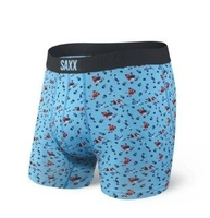 Bokserki męskie saxx ultra boxer brief fly blue action shot