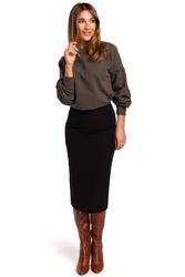Czarna spódnica z odcinanym pasem
