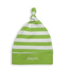 Czapeczka dla niemowląt juddlies - zielone paseczki