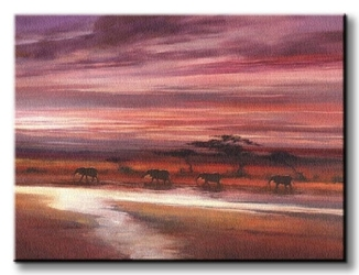 Four elephants - obraz na płótnie