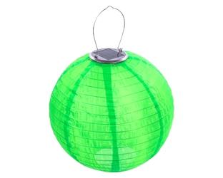 lampion solarny ogrodowy 30cm zewnętrzny zielony, lampa solarna joylight