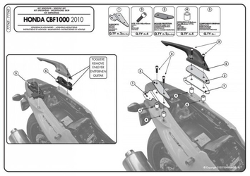 Givi 777kit kit montażowy pl208plxr208 bez stelaża