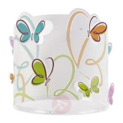 Lampa  motyle motylki biała