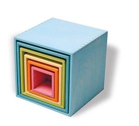 Drewniane pudełka 0+, pastelowe, grimms