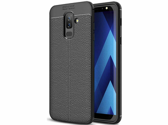 Etui Alogy leather case Samsung Galaxy A6 Plus czarne + Szkło