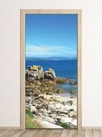 Fototapeta na drzwi skały na plaży p71