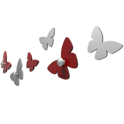 Wieszaczki ścienne millions of butterflies calleadesign gołębi 50-13-2-13