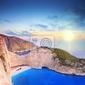 Fototapeta panorama wyspie zakynthos, grecja z wraku onpanorami