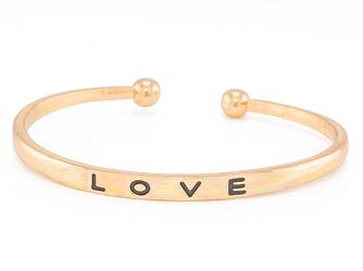 Bransoletka sztywna LOVE złota I - złota I