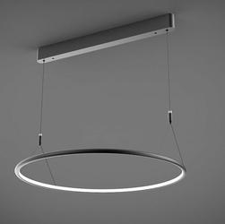Altavola Design :: Lampa Ledowe Okręgi No. 1 CL czarna 60 cm in 3k