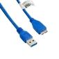 4world Kabel USB 3.0 AM- Micro BM 5.0m niebieski