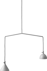 Lampa wisząca szara Cast 4