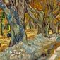 Vincent van gogh, the large plane trees - plakat wymiar do wyboru: 100x70 cm
