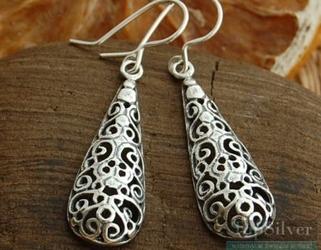 Latoria - srebrne kolczyki sople