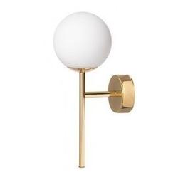 Kaspa :: lampa ścienna  kinkiet astra deco złoty ip20