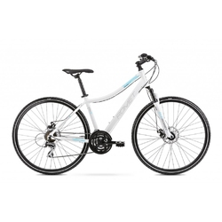 Rower crossowy romet orkan 1d 2021, kolor biały-niebieski, rozmiar 19