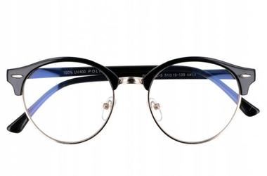 Clubmaster okulary ala lenonki uniseks antyrefleksyjne 2764