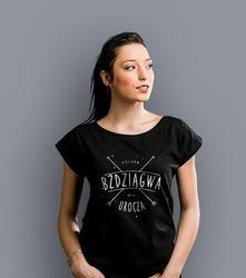 Urocza bździągwa t-shirt damski czarny xxl