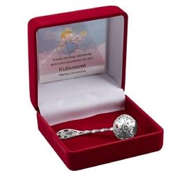Grzechotka srebrna 925 pamiątka na chrzest grawer - srebrna 925 || grzechotki