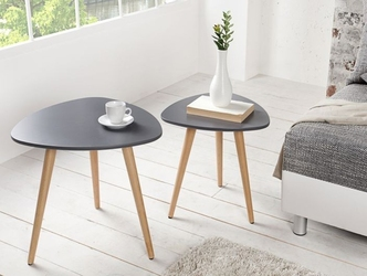 Grafitowy stolik kawowy scandinavia zestaw 2 szt.