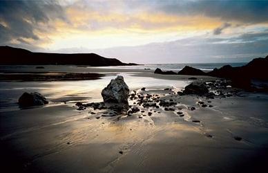 Plaża, Wielkie skały - reprodukcja