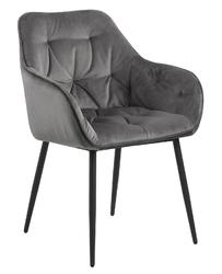 Krzesło brooke vic dark grey - szary