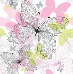 Plakat na papierze fotorealistycznym wzór z batterflys
