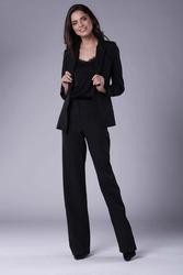 Czarny elegancki klasyczny żakiet bez zapięcia