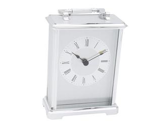 Zegar duży posrebrzany prezent urodziny z grawerem