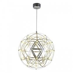Lampa żyrandol kula led srebrna druty metal 30cm