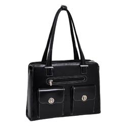 Skórzana czarna torebka biznesowa