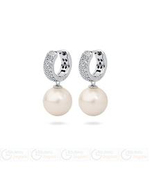 FC Kolczyki z perłą wiszące QC 3061221101 PM 12 kolor ecru