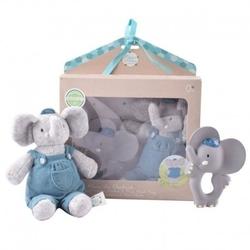 Meiya  alvin - alvin elephant organic zestaw babyshower z gryzakiem