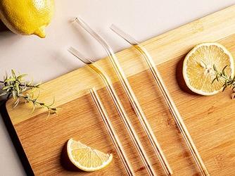 Słomki  rurki do picia napojów szklane ekologiczne altom design 4 sztuki